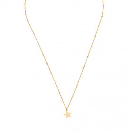 collier étoile ras de cou plaqué or jaune