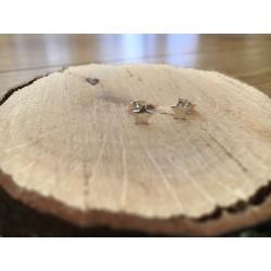 Boucles d'oreilles puces étoiles argent 925