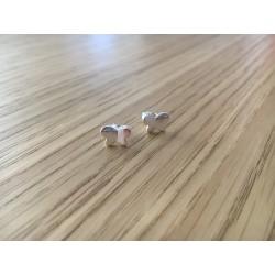 Boucles d'oreilles puces Papillons argent