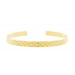 Bracelet Jonc Signature Plaqué or