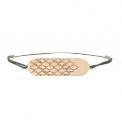 Bracelet signature p.or rose cordon gris anthracite