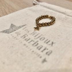 Bague Hématites dorées pendentif étoile