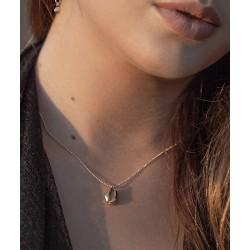 Collier Kiaora ras de cou plaqué or