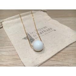 Collier  long Perle céramique