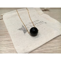 Collier  long Perle Onyx