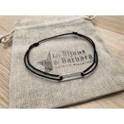 Bracelet Homme 70's cordon noir