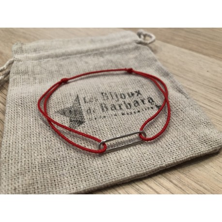 Bracelet Homme 70's cordon rouge