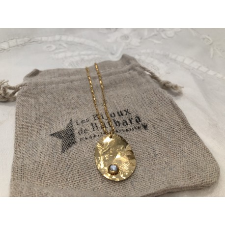 Collier court collection capsule strass transparent