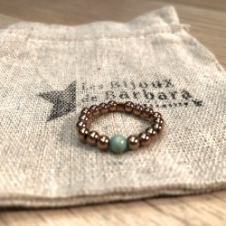 Bague turquoise rose gold