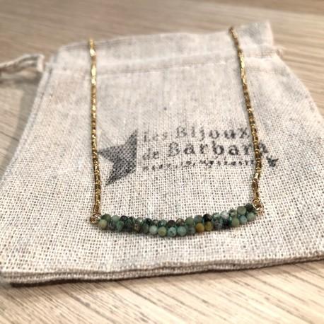 Collier CARAïBE ras de cou Turquoise