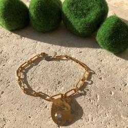 Bracelet gourmette capsule strass transparent
