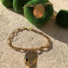 Bracelet gourmette collection capsule strass noir