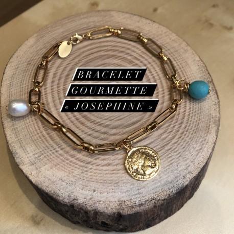 Bracelet gourmette Joséphine