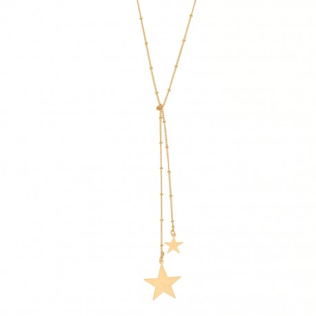 sautoir étoiles plaqué or jaune