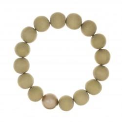 Bracelet BOUDDHISTE CHIC perles bois et cristal beige