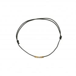 Bracelet mini cubes fashion cord noir
