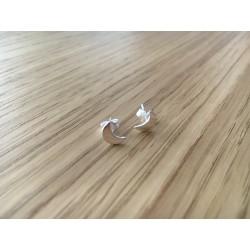 Boucles d'oreilles puces Lunes argent