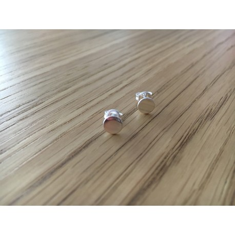 Boucles d'oreilles puces Pastilles argent